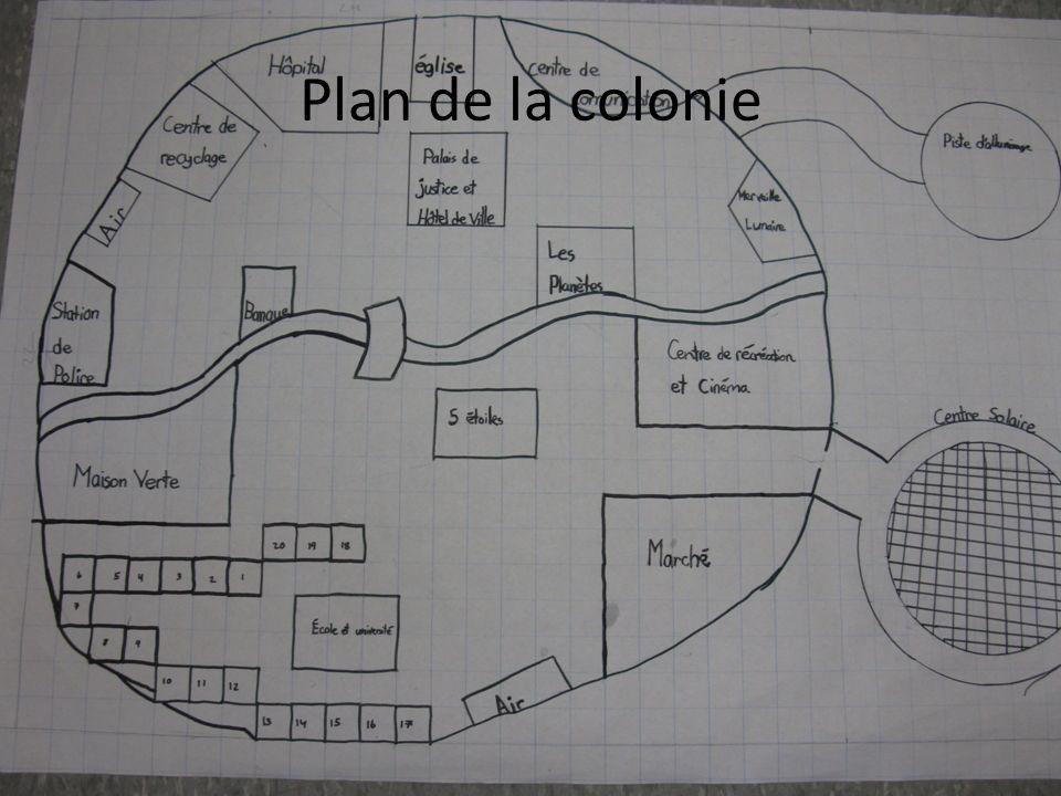 Plan de la colonie