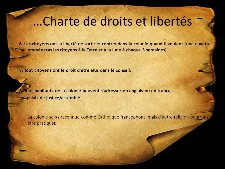 …Charte de droits et libertés