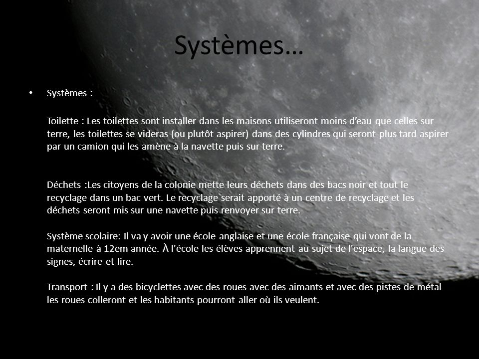 Systèmes… Systèmes :