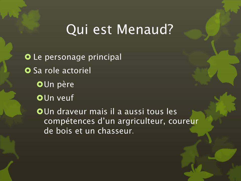 Qui est Menaud Le personage principal Sa role actoriel Un père