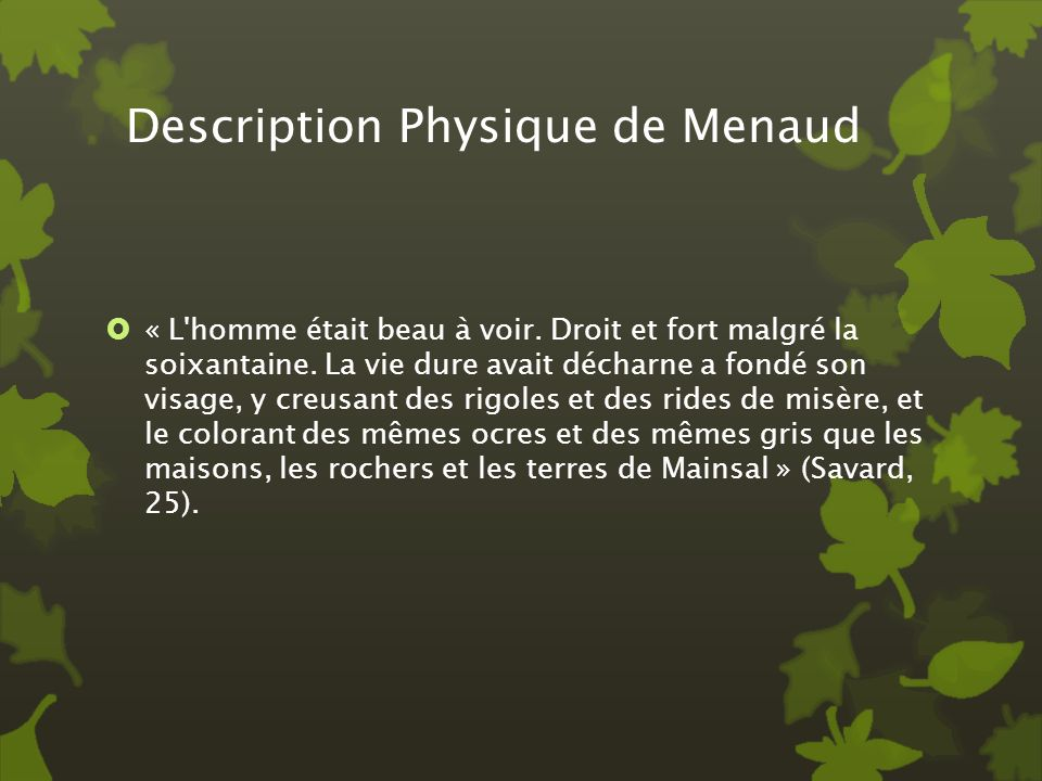 Description Physique de Menaud