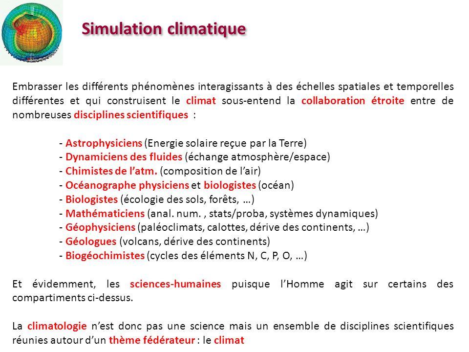 Simulation climatique