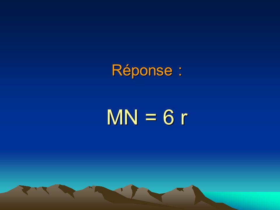 Réponse : MN = 6 r