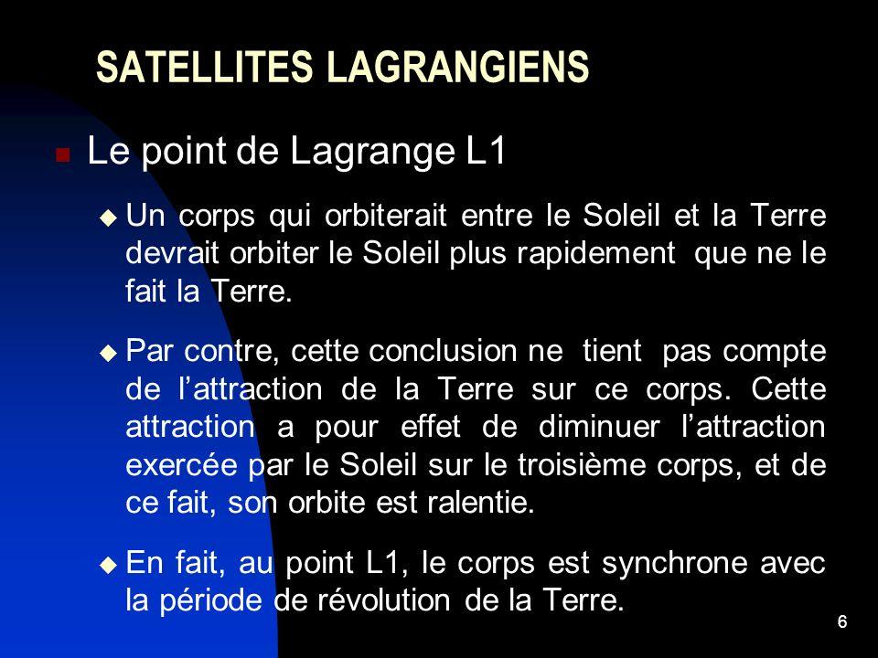 SATELLITES LAGRANGIENS