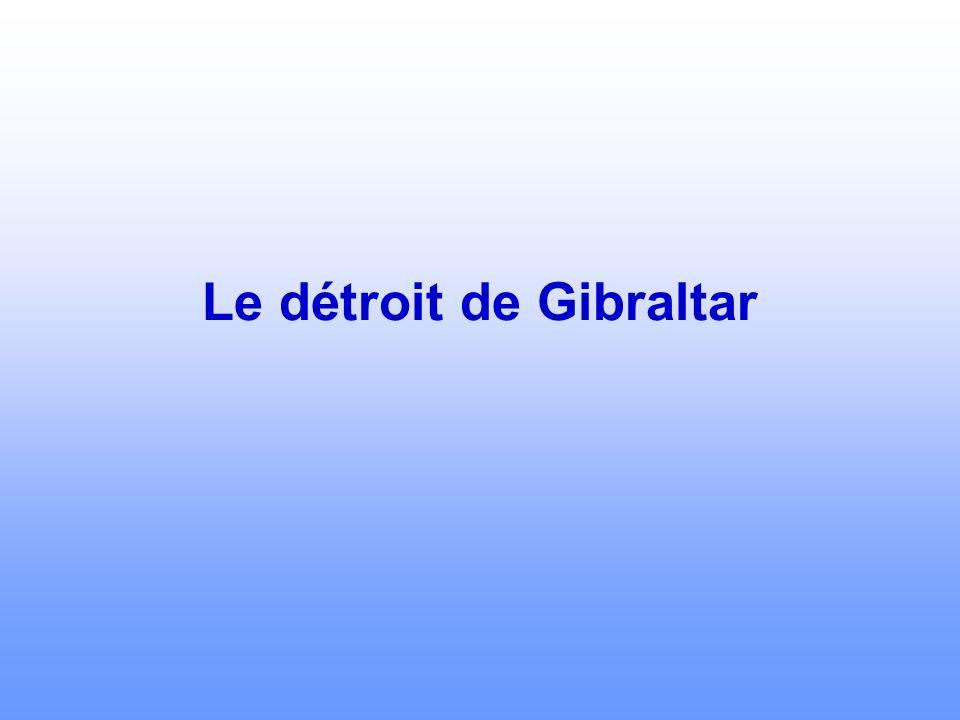 Le détroit de Gibraltar