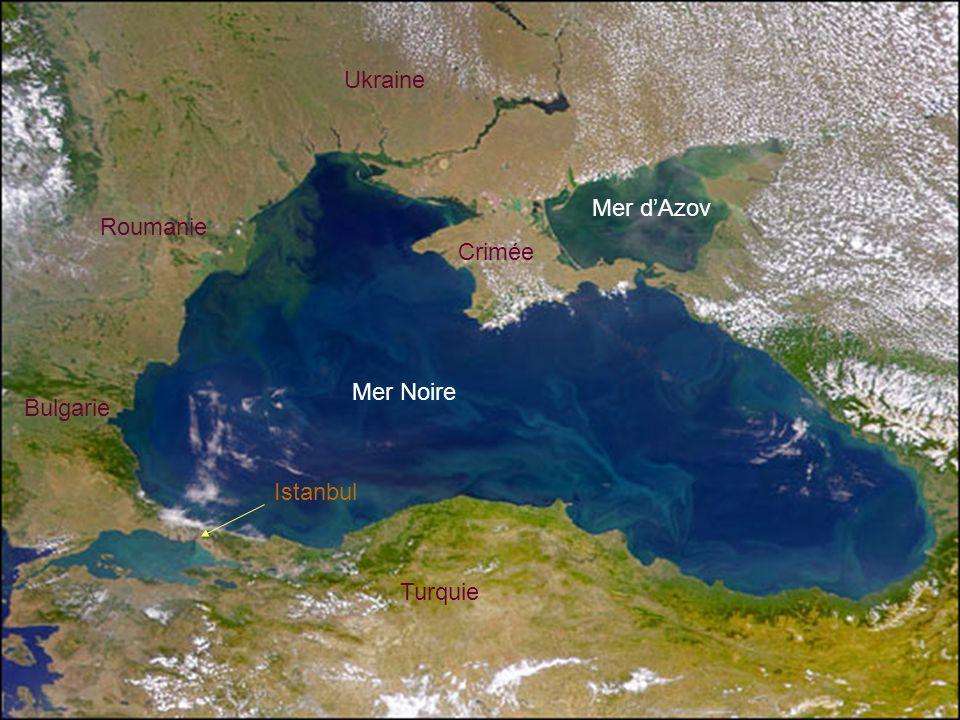Ukraine Mer d'Azov Roumanie Crimée Mer Noire Bulgarie Istanbul Turquie