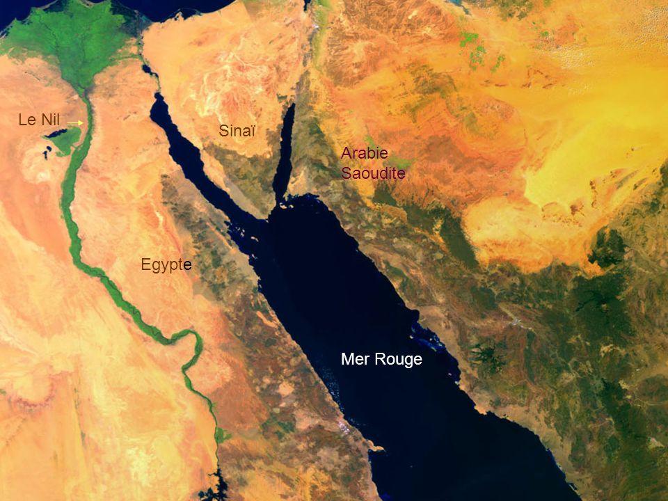 Le Nil Sinaï Arabie Saoudite Egypte Mer Rouge