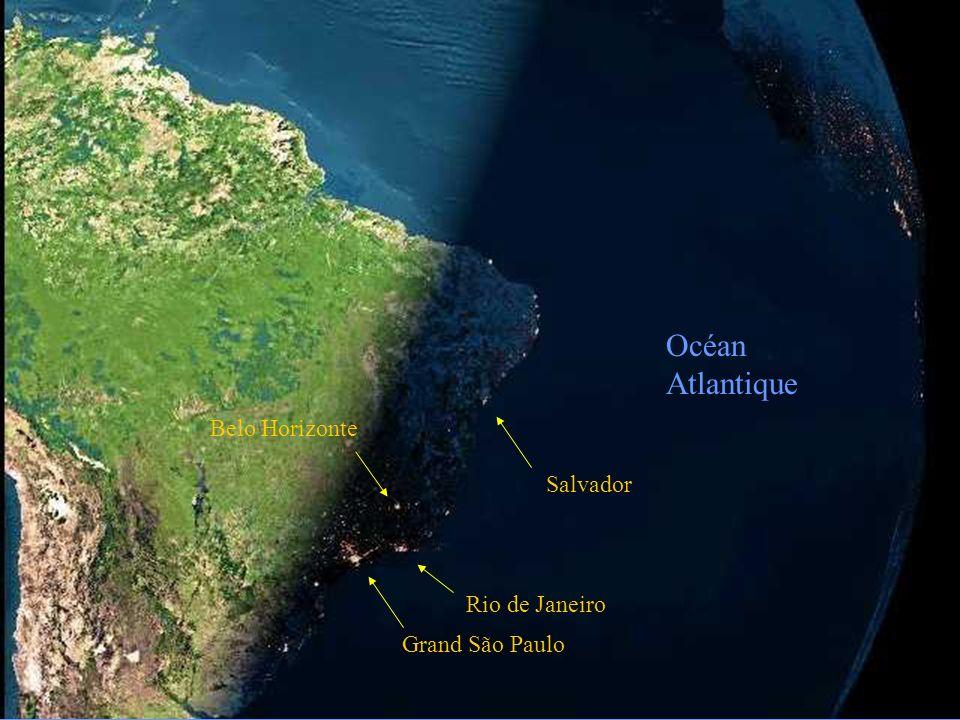 Océan Atlantique Belo Horizonte Salvador Rio de Janeiro