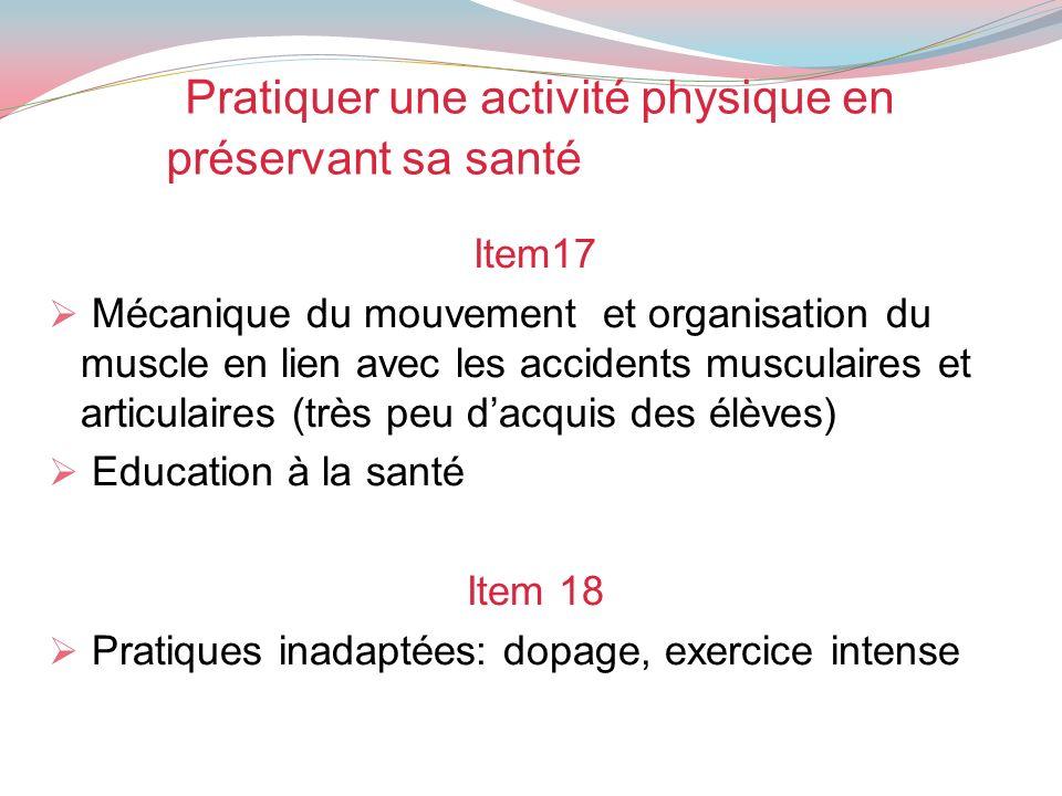 Pratiquer une activité physique en préservant sa santé