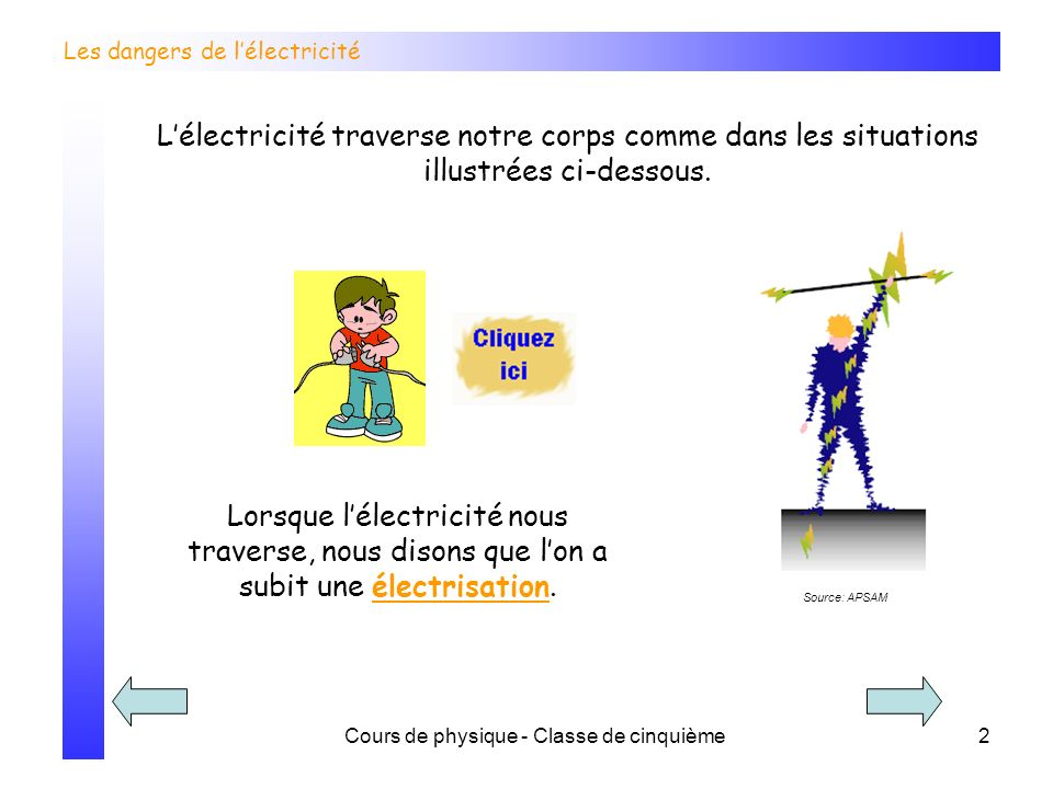 Les dangers de l'électricité