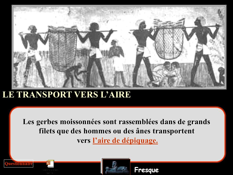 LE TRANSPORT VERS L'AIRE