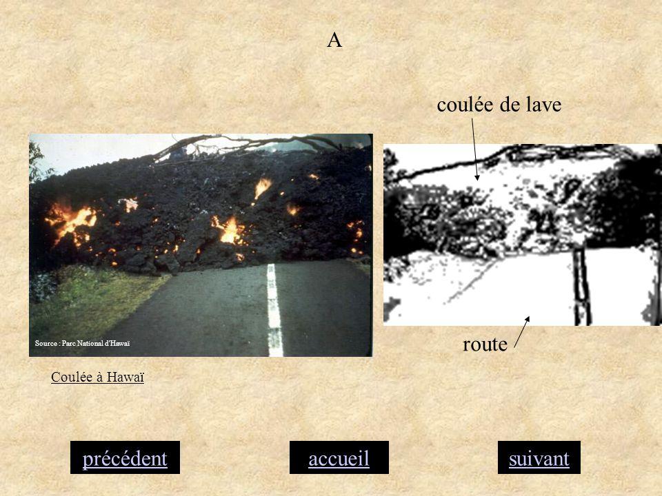 A coulée de lave route précédent accueil suivant Coulée à Hawaï