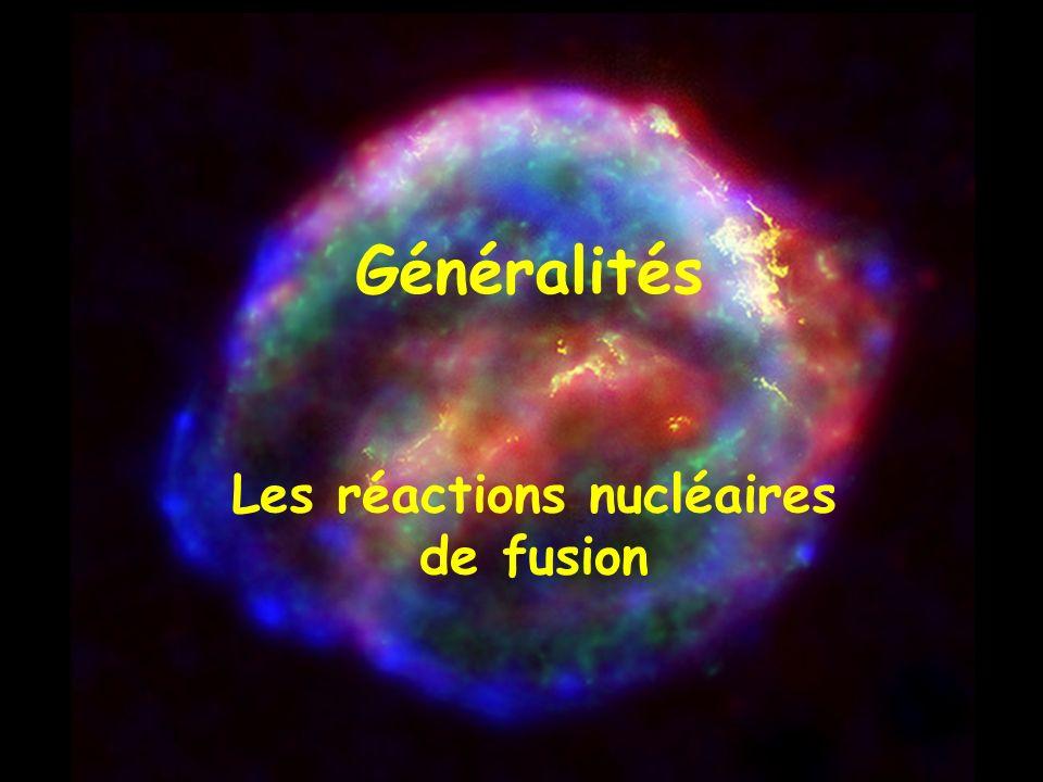 Les réactions nucléaires de fusion