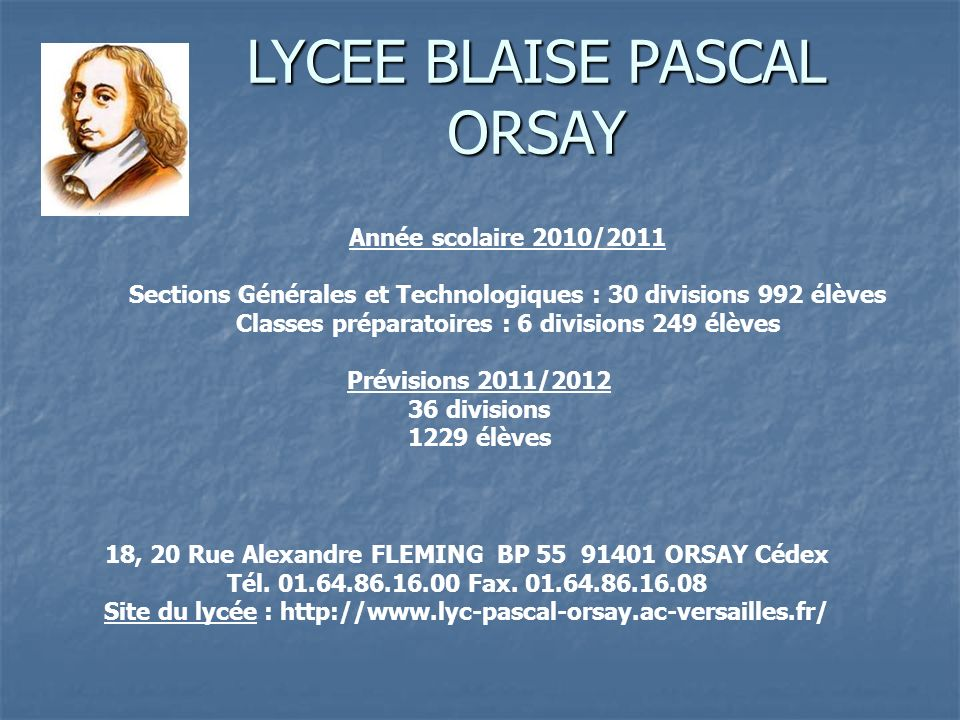 LYCEE BLAISE PASCAL ORSAY