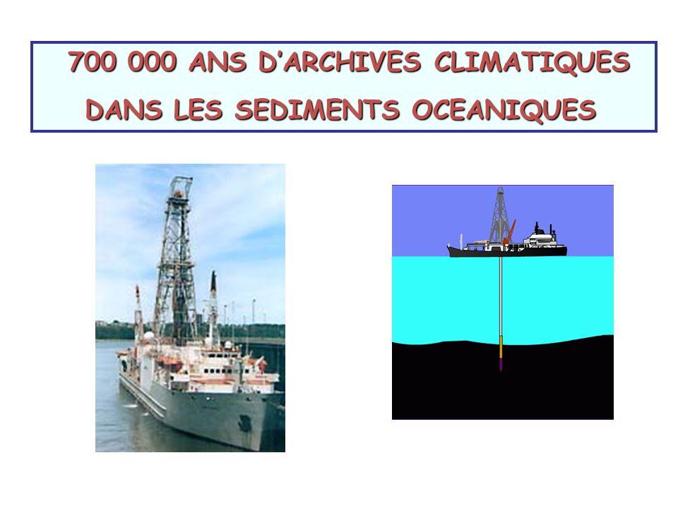 DANS LES SEDIMENTS OCEANIQUES