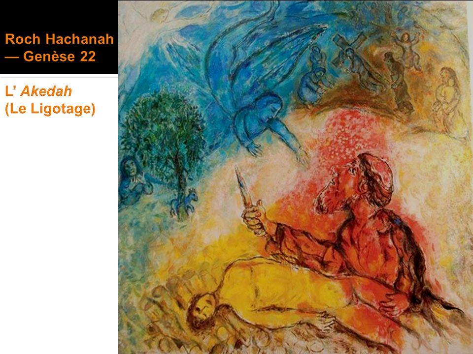 Roch Hachanah — Genèse 22 L' Akedah (Le Ligotage)