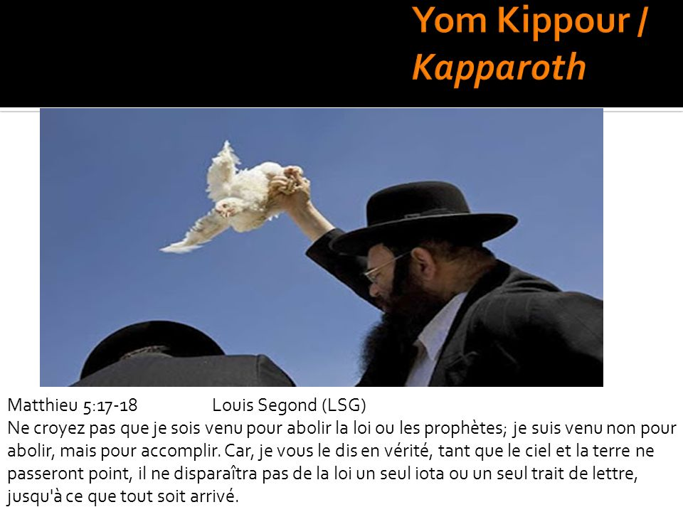 Yom Kippour / Kapparoth