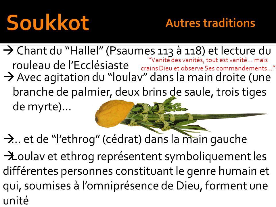 Soukkot Autres traditions