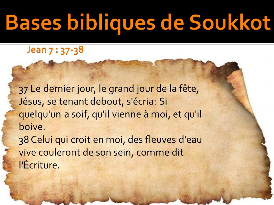 Bases bibliques de Soukkot