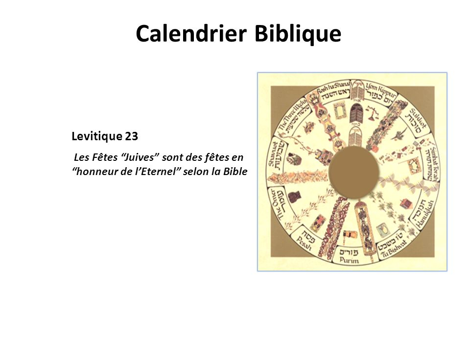 Calendrier Biblique Levitique 23