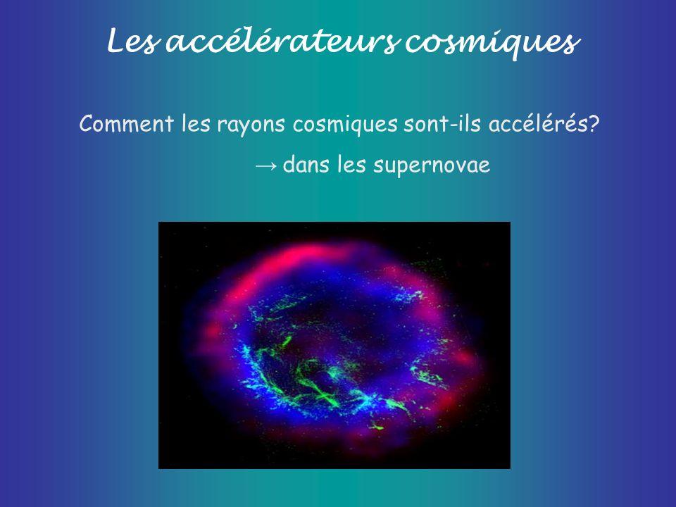 Les accélérateurs cosmiques