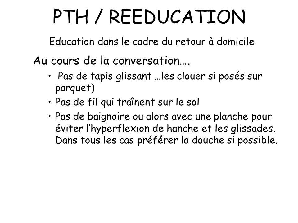 PTH / REEDUCATION Education dans le cadre du retour à domicile