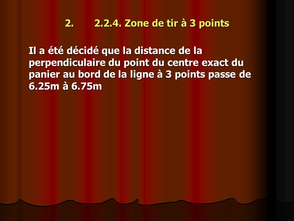 2. 2.2.4. Zone de tir à 3 points