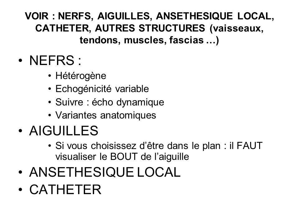 NEFRS : AIGUILLES ANSETHESIQUE LOCAL CATHETER