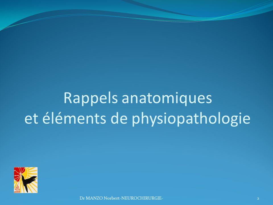 Rappels anatomiques et éléments de physiopathologie