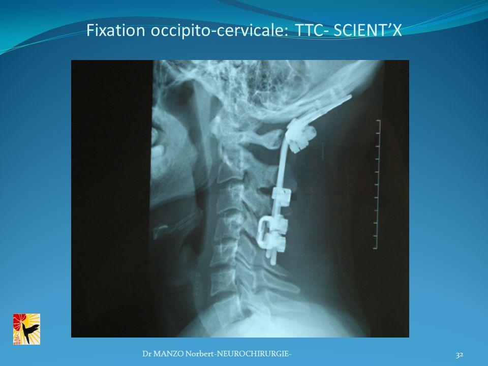 Fixation occipito-cervicale: TTC- SCIENT'X