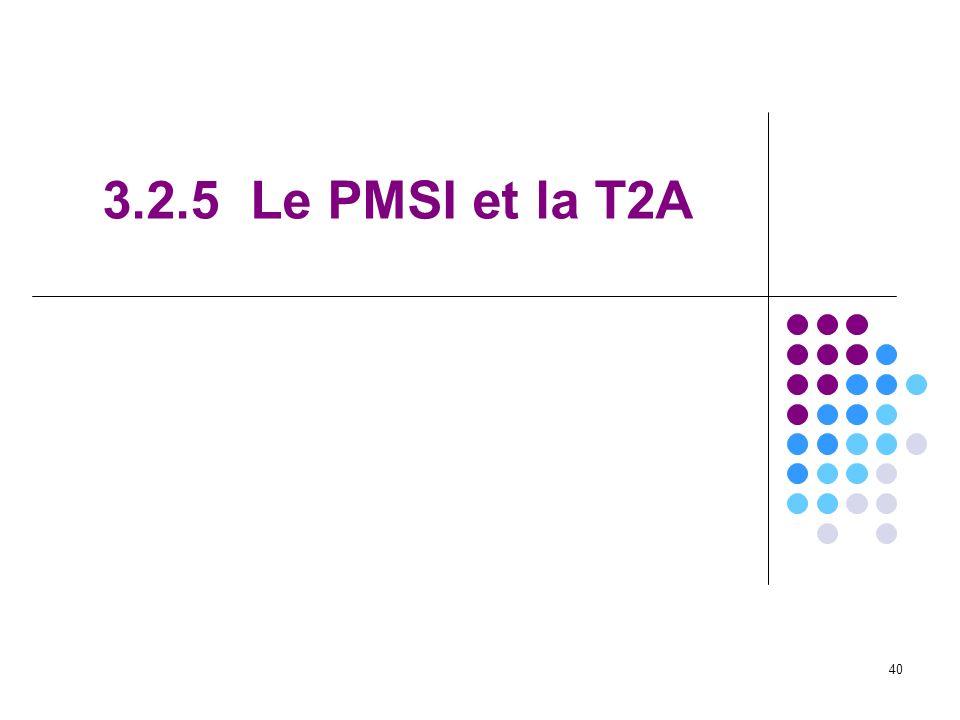 3.2.5 Le PMSI et la T2A