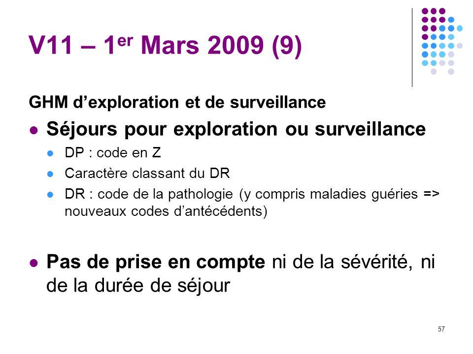 V11 – 1er Mars 2009 (9) Séjours pour exploration ou surveillance