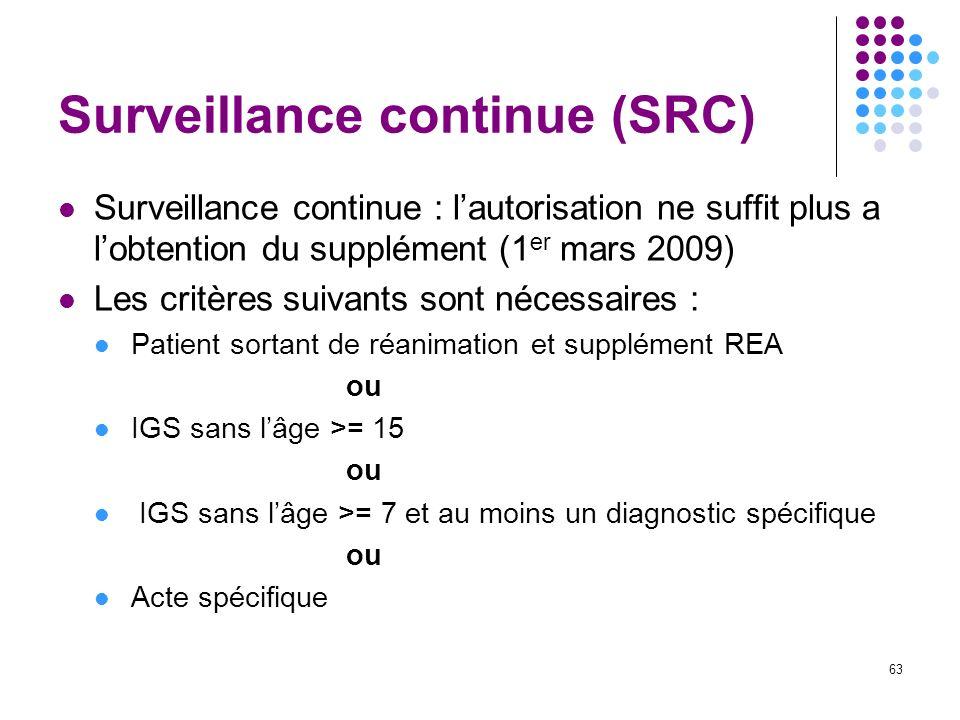 Surveillance continue (SRC)