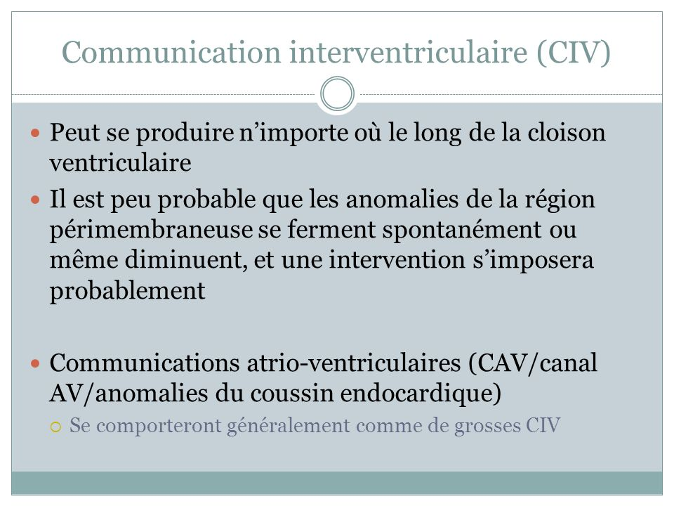 Communication interventriculaire (CIV)