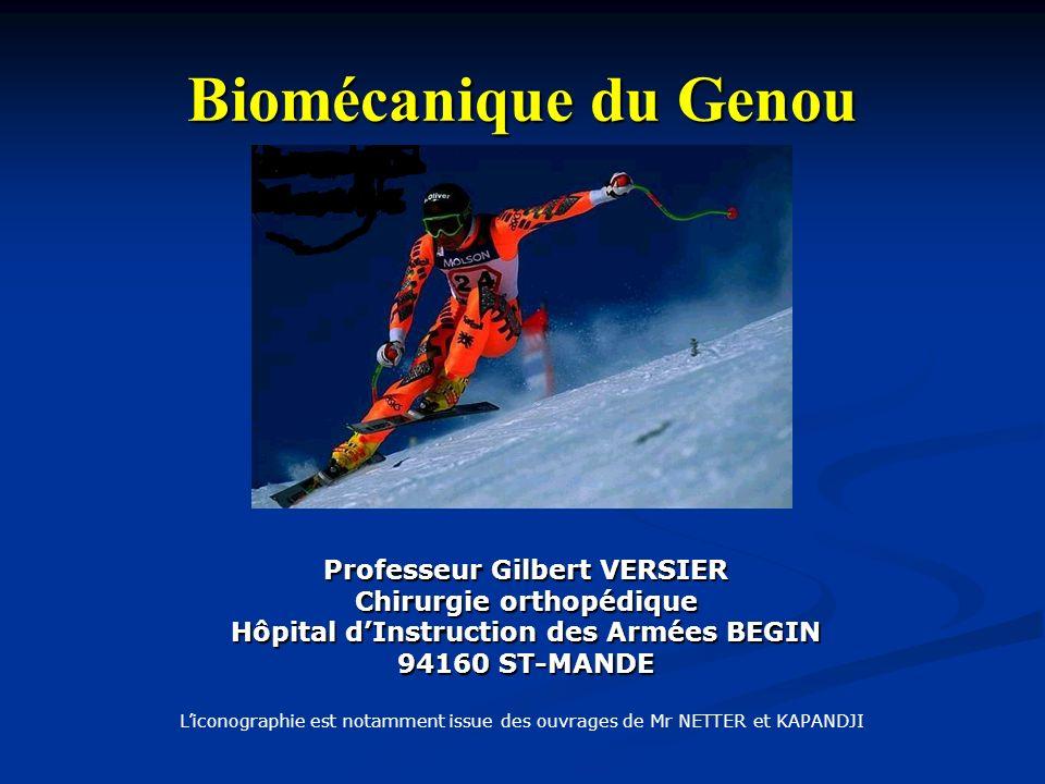 Biomécanique du Genou Professeur Gilbert VERSIER