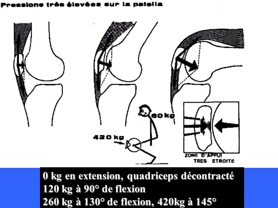 0 kg en extension, quadriceps décontracté