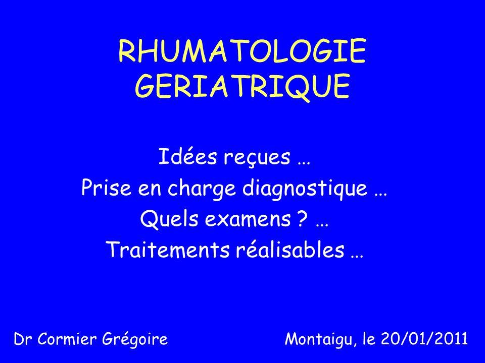 RHUMATOLOGIE GERIATRIQUE