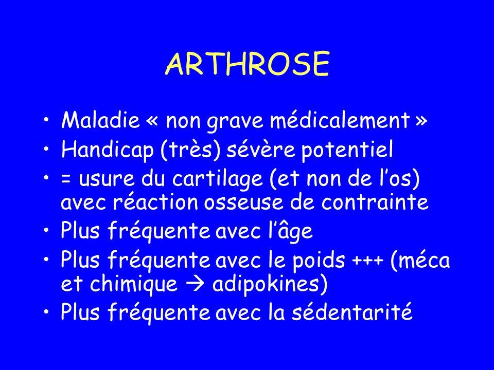 ARTHROSE Maladie « non grave médicalement »