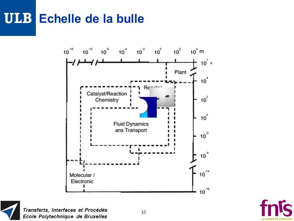 Echelle de la bulle Transferts, Interfaces et Procédés