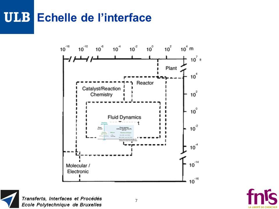 Echelle de l'interface