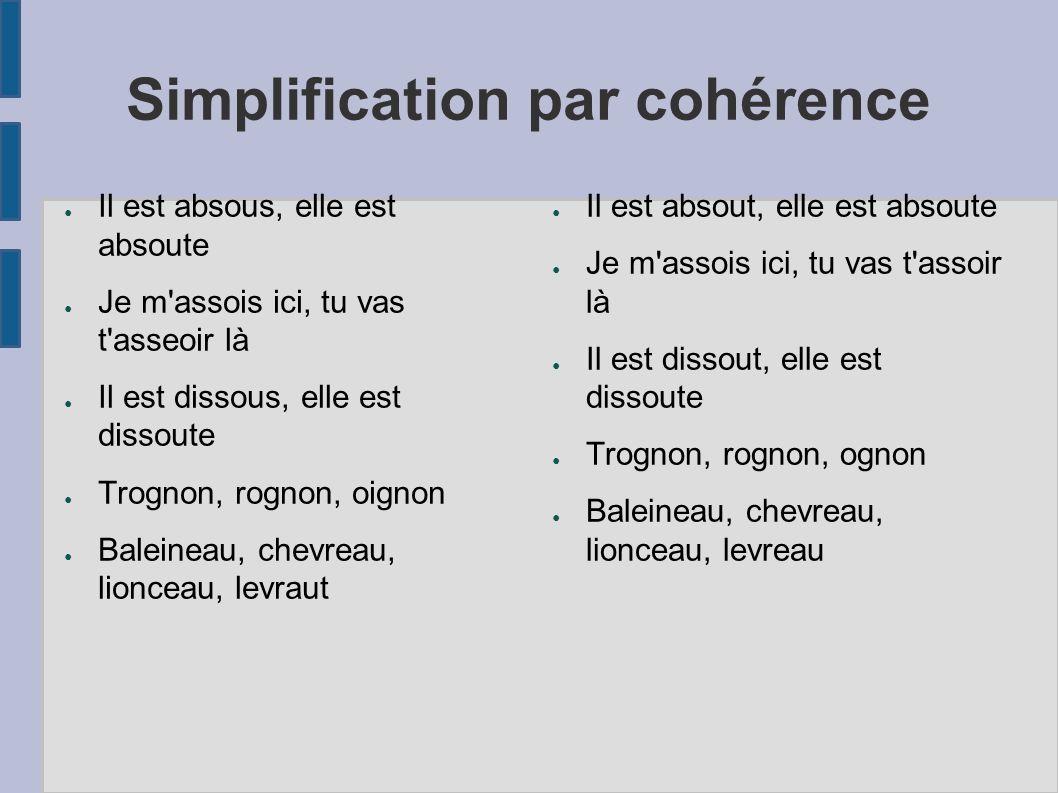 Simplification par cohérence