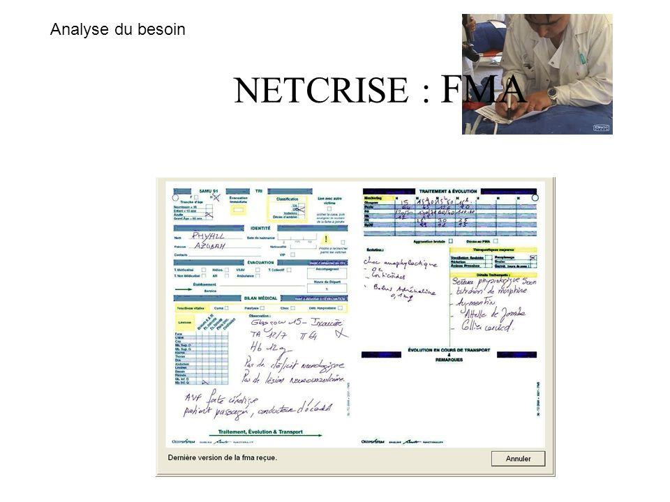 Analyse du besoin NETCRISE : FMA