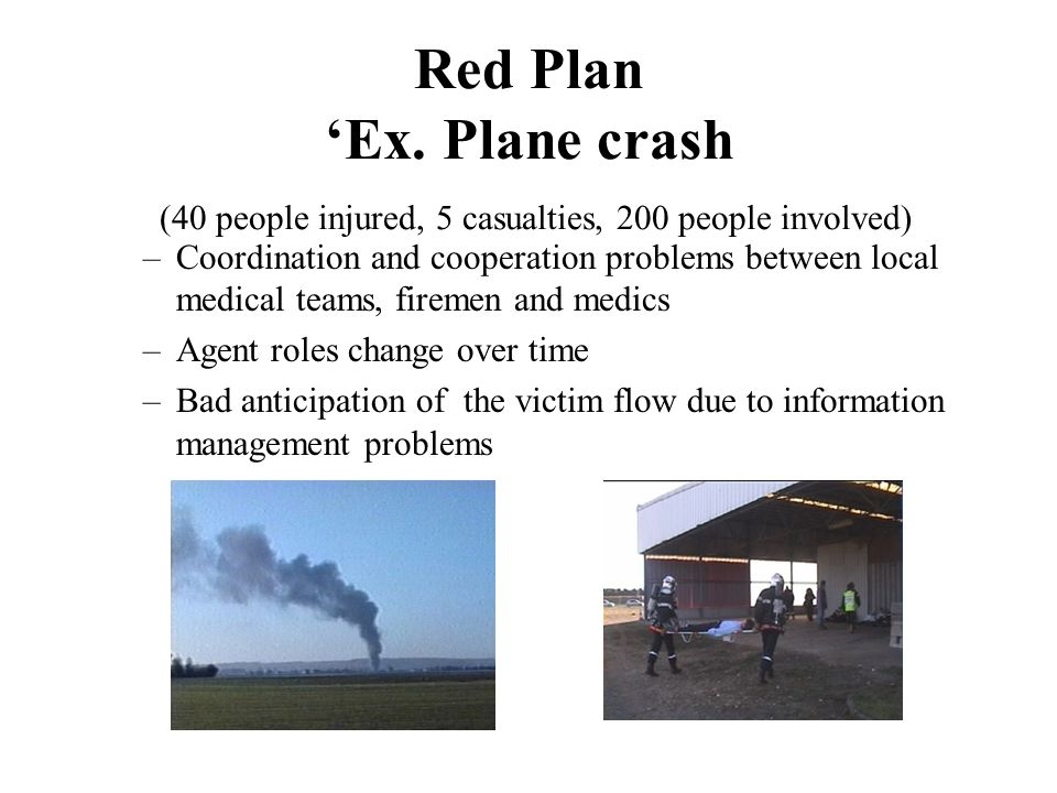 Red Plan 'Ex. Plane crash (40 people injured, 5 casualties, 200 people involved)