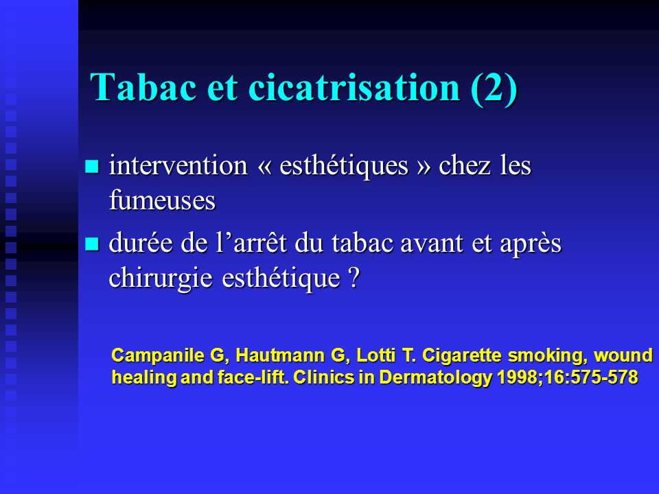 Tabac et cicatrisation (2)