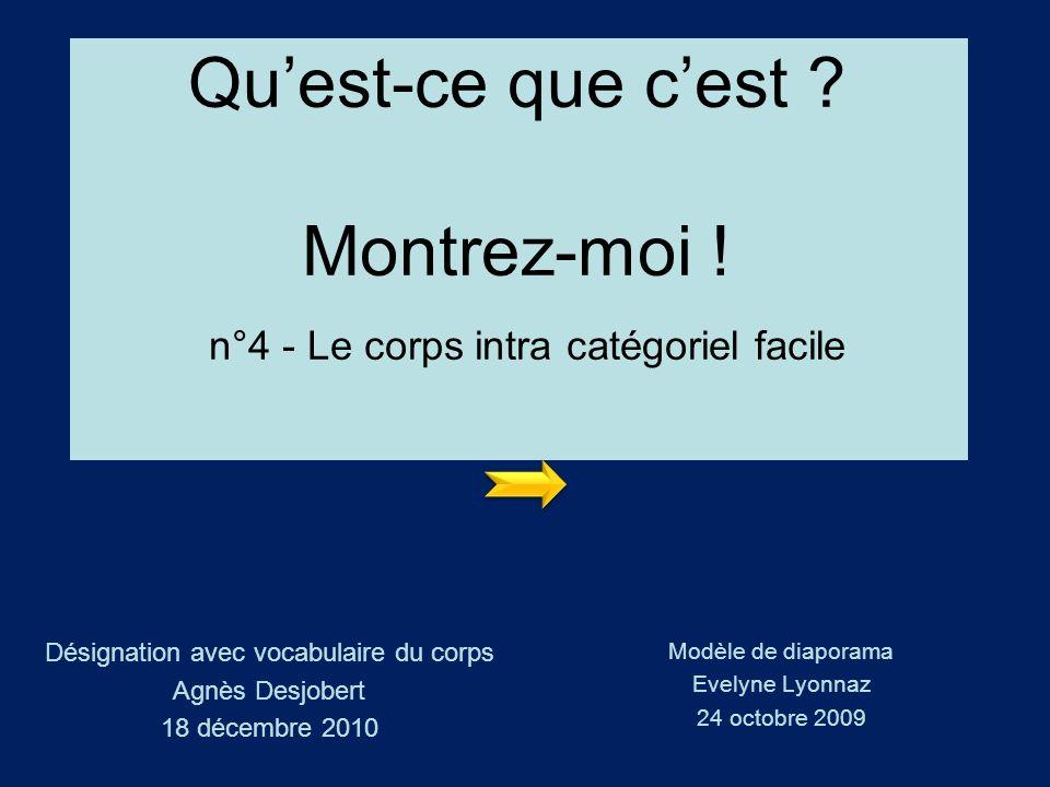 Désignation avec vocabulaire du corps Agnès Desjobert 18 décembre 2010