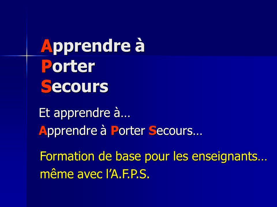 Apprendre à Porter Secours