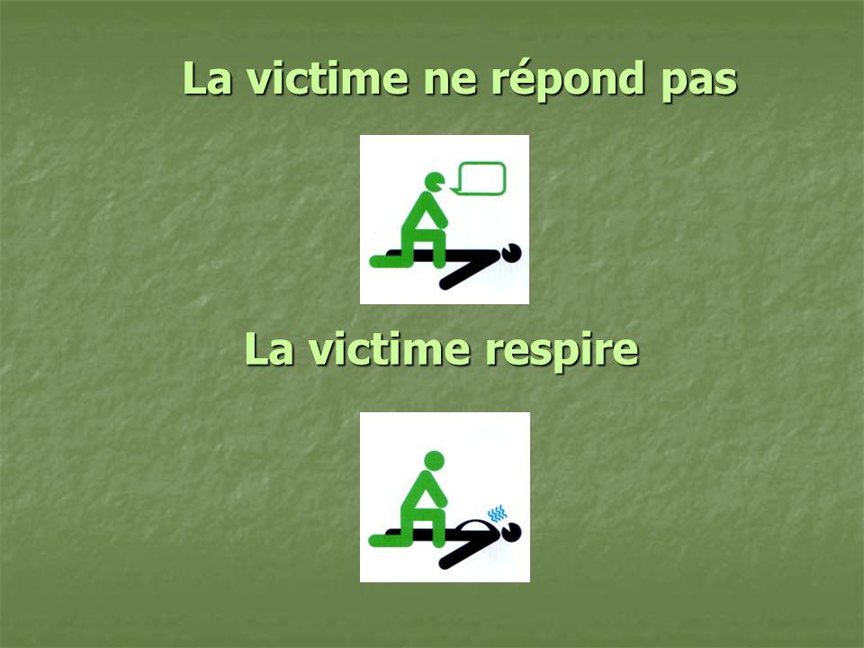 La victime ne répond pas