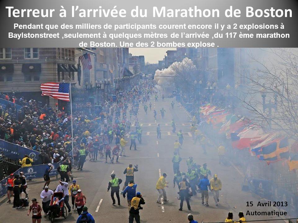 Terreur à l'arrivée du Marathon de Boston