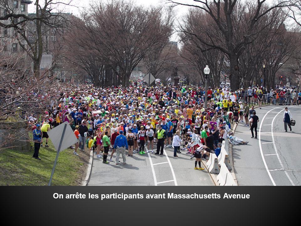 On arrête les participants avant Massachusetts Avenue