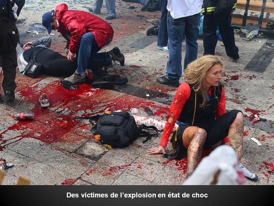Des victimes de l'explosion en état de choc
